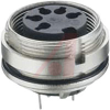connector,circular din,female recept,rear mount,shielding,pcb pins,5 cont,ip68 -- 70151304