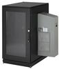 ClimateCab NEMA 12 Server Cabinet with M6 Rails and 5000-BTU AC Unit, 24U, 230V, 51