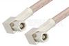 SMC Plug Right Angle to SMC Plug Right Angle Cable 72 Inch Length Using RG316 Coax, RoHS -- PE3919LF-72 -Image