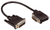 DVI-D Single Link LSZH DVI Cable Male / Male Right Angle, Left, 1.0 ft -- MDA00041-1F -Image