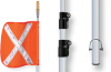 Lighted Warning Whips with Telescoping Pole -- Monster™ Motion Safety