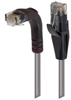 Category 5E LSZH Right Angle Patch Cable, Straight/Right Angle Down, Gray, 1.0 ft -- TRD815ZRA1GRY-1 -Image