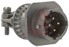 CONNECTOR,CABLE CONNECTING RECEPTACLE W/CABLE CLAMP,SIZE 12,4#16 SOLDER PIN CONT -- 70010714
