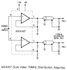Dual, 70MHz Video Amplifier -- MAX457 -- View Larger Image