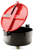 PIG Burpless Large One-Hand-Sealable Drum Funnel Black For 30 and 55 gal. Steel Drums w/ 2