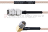 SMA Male to RA SMA Male MIL-DTL-17 Cable M17/113-RG316 Coax in 12 Inch -- FMHR0091-12 -Image