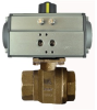 "BRASS-2WAY NC-DOUBLE ACTING 1/4"" NPTF BALL VALVE -- B2CD02-0-0"