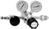 Dual-Stage Ultra-High Purity Chrome-Plated -- Brass Gas Regulators