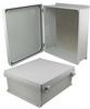 16x14x6 Inch UL® Listed Weatherproof NEMA 4X Enclosure w/Aluminum Mount Plate, Non-Metallic Hinges -- NBN161406-KIT -Image