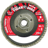 Weiler Saber Tooth Type 29 Non-Woven Ceramic Flap Disc - Medium Grade - 4 1/2 in Diameter - 50107 -- 012382-50107