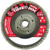 Weiler Saber Tooth Type 29 Non-Woven Ceramic Flap Disc - Medium Grade - 4 1/2 in Diameter - 50107 -- 012382-50107