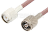 TNC Male to Reverse Polarity TNC Male Cable 60 Inch Length Using RG142 Coax -- PE35230-60 -Image