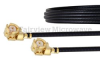 UMCX 2.5 Plug to UMCX 2.5 Plug Cable 0.81mm Coax in 12 Inch and RoHS Compliant -- FMCA1059-12 -Image