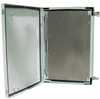 24x16x9 Inch Weatherproof NEMA 4X Enclosure w/Back and Front Mounting Plate -- NBG241609-KIT02 -Image
