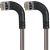 Category 5E Shielded LSZH Right Angle Patch Cable, Right Angle Left/Right Angle Left, Gray, 1.0 ft -- TRD815SZRA9GRY-1 -Image