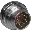 connector,circular din,male panel recept,front mt,12 gold pltd pin contact,ip67 -- 70013508