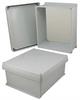 14x12x6 Inch UL® Listed Weatherproof NEMA 4X Enclosure w/Non-Metallic Mounting Plate, Corner Screws -- NBC141206-KIT01 -Image