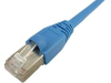 1' Cat6A Shielded Patch Cable, Blue -- 603936