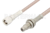 SMC Plug to SMC Jack Bulkhead Cable 36 Inch Length Using RG316 Coax, RoHS -- PE33690LF-36 -- View Larger Image