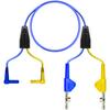 (2) R/A Shrouded Banana-(2) LHTCABP-Blue-6ft -- TC-3007TX/6 - Image