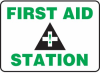 First Aid Station Sign -- SGN597
