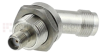 45 Degree Bulkhead SMA Female (Jack) to TNC Female (Jack) Adapter, Passivated Stainless Steel Body, 1.2 VSWR -- SM4739 - Image