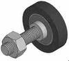 Double Bearing Style Stud Mount Urethane Covered Bearings -- CBD-102814-xxUR-C