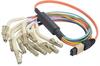 MPO Male to 12x Flex LC Fan-out, 12 Fiber Ribbon, OM2 50/125 Multimode, OFNR Jacket, Orange, 0.5m -- MPM12OM2-FLC-05 - Image