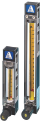 Flow meter with sight glass