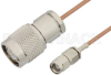 Reverse Polarity SMA Male to TNC Male Cable 72 Inch Length Using RG178 Coax, RoHS -- PE35220LF-72 -Image