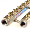 304 Stainless Steel Manifolds -- W-BB-08BSS-04-3B-A - Image
