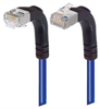 Category 5E Shielded Right Angle Patch Cable, Down/Right Angle Up, Blue 2.0 ft -- TRD815SRA4BL-2 -- View Larger Image