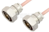 7/16 DIN Male to 7/16 DIN Male Cable 48 Inch Length Using RG401 Coax -- PE36138-48