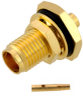 SMA Female (Jack) Bulkhead Connector for RG405, RG405 Tinned, .086 SR Cable, Solder -- FMCN1156 -Image