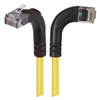 Category 6 Right Angle Patch Cable, RA Right Exit/Right Angle Up- Yellow 15.0 ft -- TRD695RA12Y-15 -Image