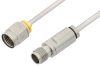2.4mm Male to 2.4mm Female Cable 6 Inch Length Using PE-SR405AL Coax, LF Solder, RoHS -- PE35656LF-6 -Image