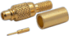 Connector, MMCX Male Crimp, Teflon Insulation, Gold Pin, Gold Plated Body, for TCC Cable Group L -- 28-01L-TGG - Image