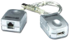 USB Extension thru CAT5e Cable -- USB-CAT5 -- View Larger Image
