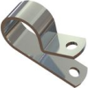 Cable Clamps - Screw Mount ,P Style, Aluminium -- AL10A - Image