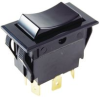 SWITCH, ROCKER, SPST, 15A, 250V, BLACK -- 32M5229