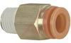 Connector, Pneumatics; 3/8 in.; 1/2 in.; 22.23 mm (Hex.); 7 mm (Min.); NTP; PVC -- 70070343