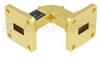 WR-51 Waveguide H-Bend Instrumentation Grade Using UBR180 Flange With a 15 GHz to 22 GHz Frequency Range -- SMF-51HB-001 -Image