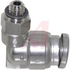 FITTING, STAINLESS STEEL, MALE ELBOW, FOR 1/4 IN TUBE, 10-32UNF PORT -- 70072112