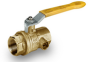 Brass Ball Valve -- s. 82 NPT side drain
