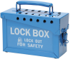Brady Blue Steel Combined Lock Storage & Group Lock Box 45190 - 9 in Width - 6 in Height - 40 Padlock Capacity - 754476-45190 -- 754476-45190 - Image