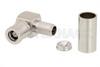 SMB Plug Right Angle Connector Crimp/Solder Attachment for RG58, RG303, RG141, PE-C195, PE-P195, LMR-195, 0.195 inch -- PE4522 -Image