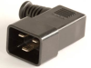 European IEC 60320/C20 Right Angle Plug Connector -- UC-032R