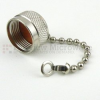 N Male Open Circuit Connector Cap with 2.5 Inch Chain -- SC2010C -Image