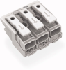 Power supply connector; without ground contact; with snap-in mounting feet; plain; 3-pole -- 294-5003