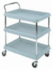 BC2030-3DMB - Deep-Ledge Utility Cart, 3 Shelf, 21.5x41x32.75